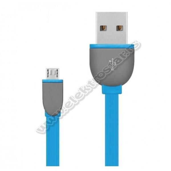 USB KABL 2.0-MicroB 1M PLAVI FLET