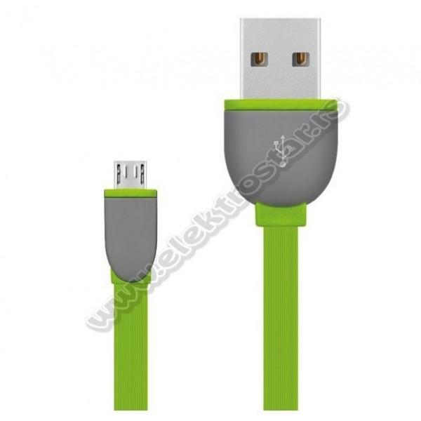 USB KABL 2.0-MicroB 1m ZELENI FLET