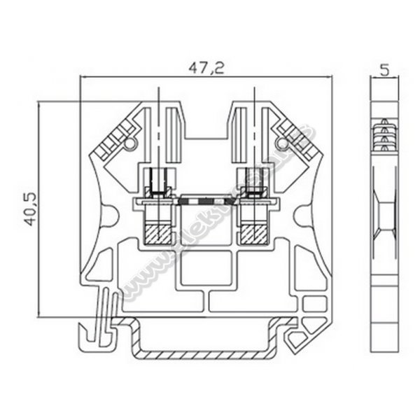 VS KLEMA 2,5mm PLAVA