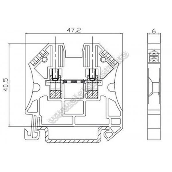 VS KLEMA 4mm PLAVA
