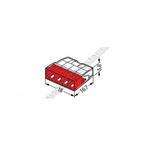 WAGO KONEKTOR 2273-204 ZA 4 PUNA PROVODNIKA 0,5-2,5mm2 24A