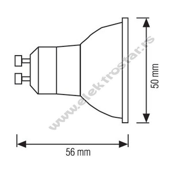 LED SIJALICA PLAVA 3W GU10 230V  SMD2835