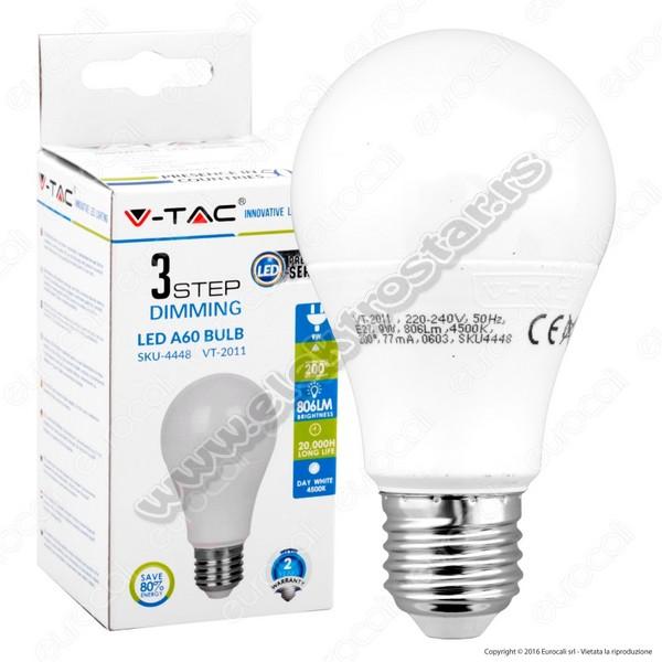 LED KLASIK 9W 6000K E27 3-KLIK V-TAC