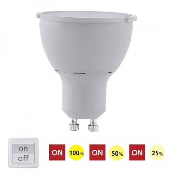 11541 LED COB 5W GU10 3000K 3-STEP DIMMING