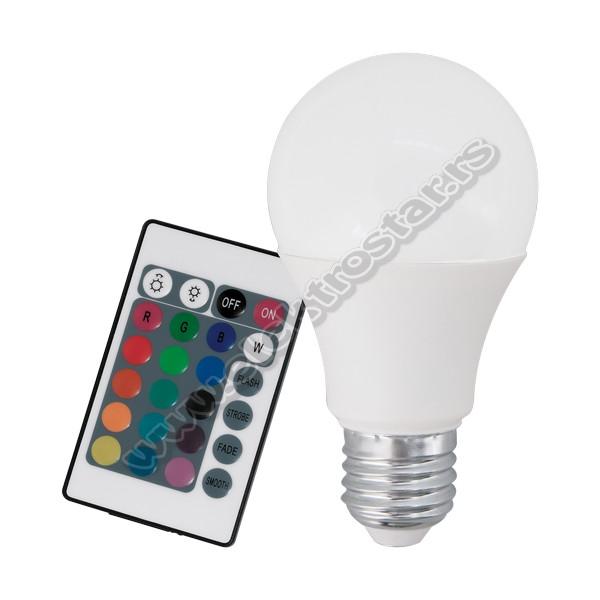 10107 LED 9W E27 RGBW SIJALICA SA DALJINSKIM
