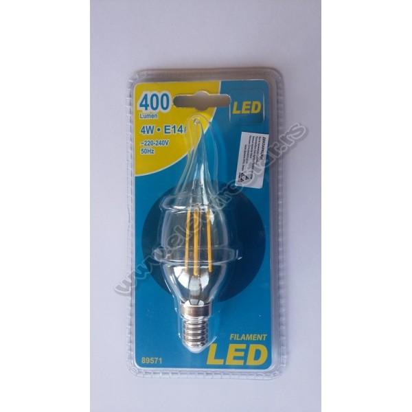 89571 FILAMENT LED SVECA UVIJENA 4W E14 3000K ESTO
