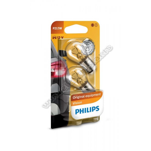AUTO 21/5W 12V BAY15d VISION PHILIPS