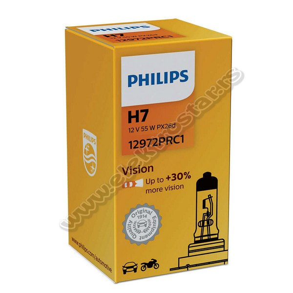 AUTO H7 12V 55W PX26d VISION PHILIPS