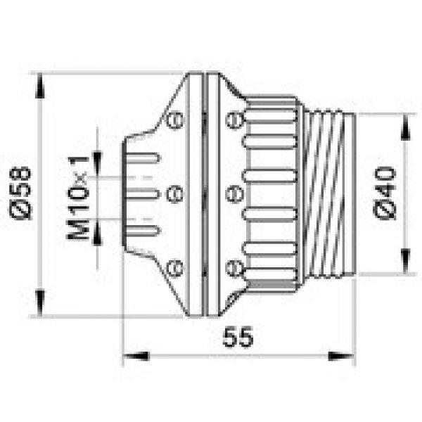 GRLO E27 LUSTER BAKELIT 106SP