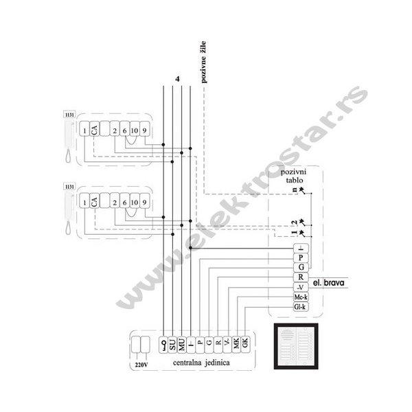 INTERFONSKA SLUŠALICA CLASSIC 1131 TEH-TEL