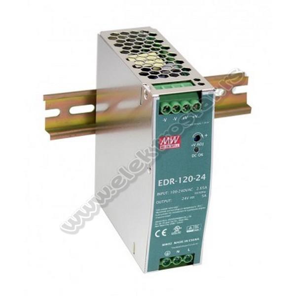 ISPRAVLJAČ EDR-120W 24V DC za DIN šinu