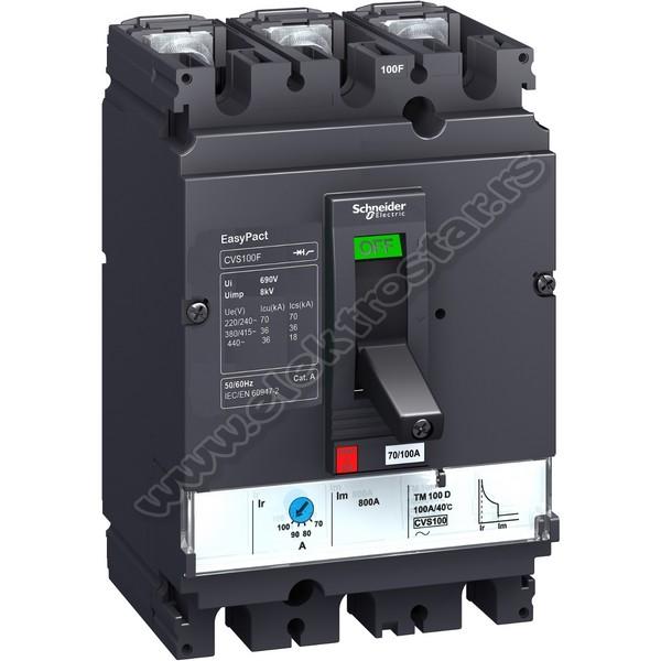 LV525303 TM250 CVS250B 25KA SCHNEIDER ELECTRIC