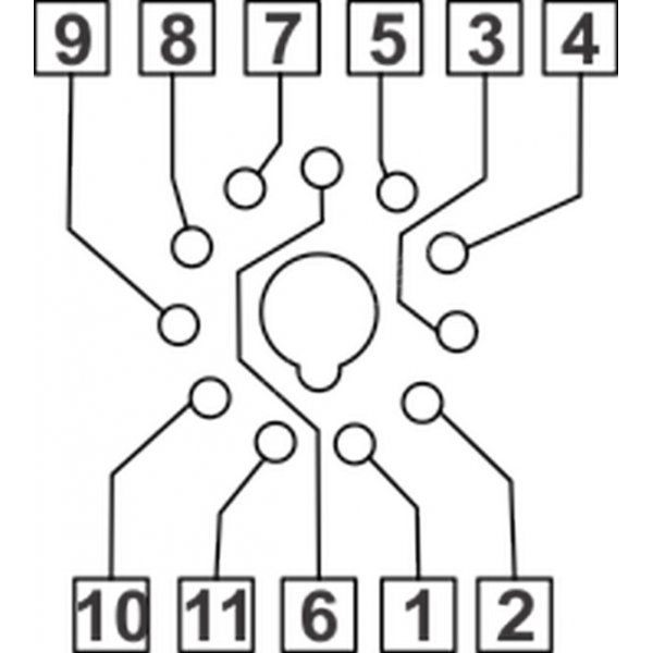 POSTOLJE RELEJA 11-PIN AS770