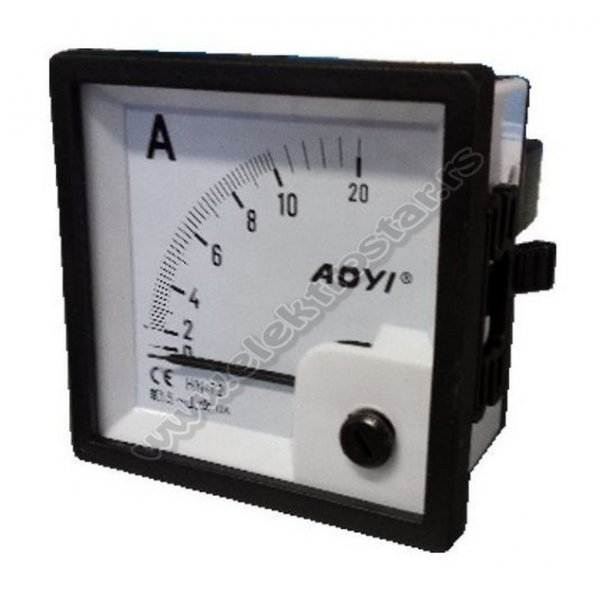 AMPERMETAR 72X72 0-10A AC