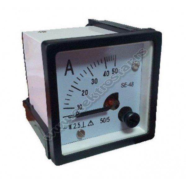 AMPERMETAR 48X48 50/5A AC