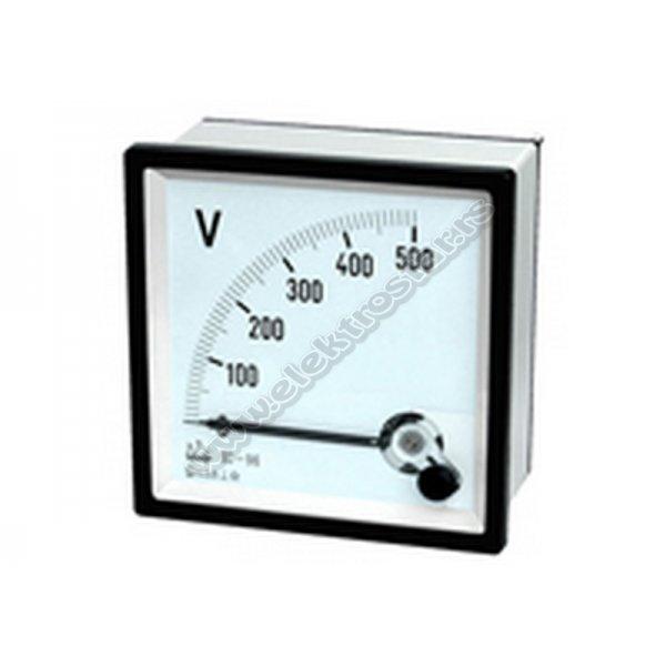 VOLTMETAR 0-500V AC 48X48 SA SKALOM
