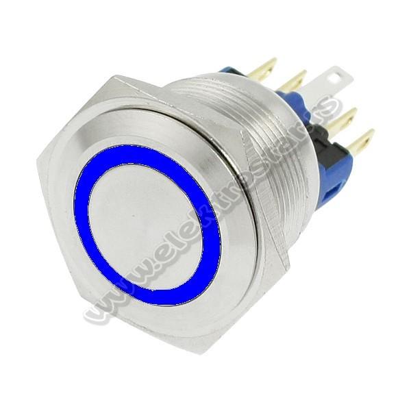 TASTER METALNI Fi22 24VDC PLAVI SDOS-MP022S/F11