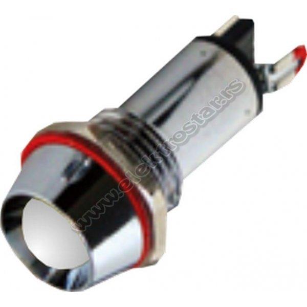 SIGNALNA LAMPA F8 220V BELA LED