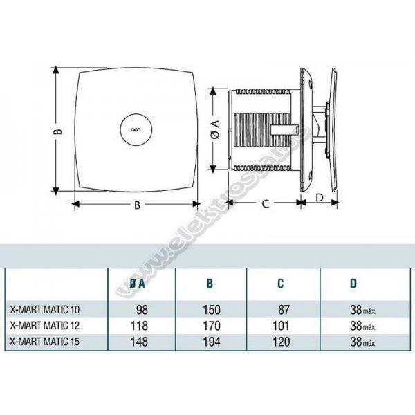 ASPIRATOR CATA X-MART 12 MATIC