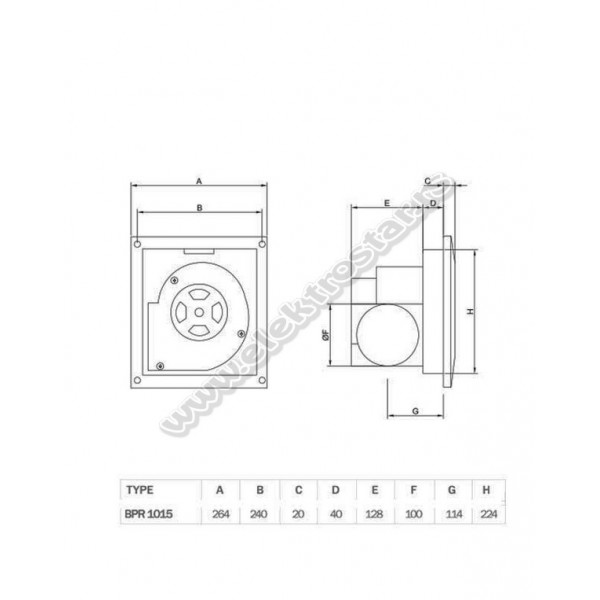 ASPIRATOR PLAFONSKI BPR1015 BVN
