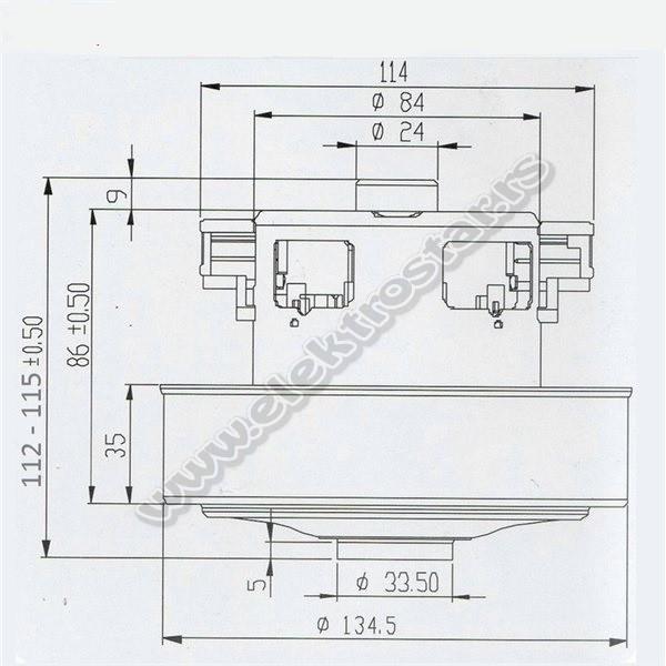 MOTOR USISIVAČA 1400W VAC030UN CG14 112-115mm
