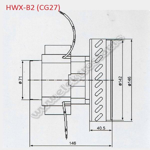 MOTOR USISIVAČA 1200W VAC027UN HIDRO 1 ELISE CG27