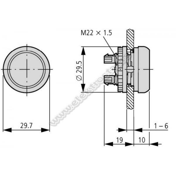 216954 M22-DRL-X GLAVA TASTERA SA BLOKADOM