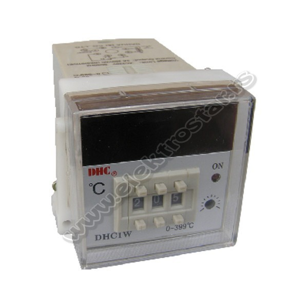 TERMOREGULATOR DHC1W-PT100 230V AC 0-399C