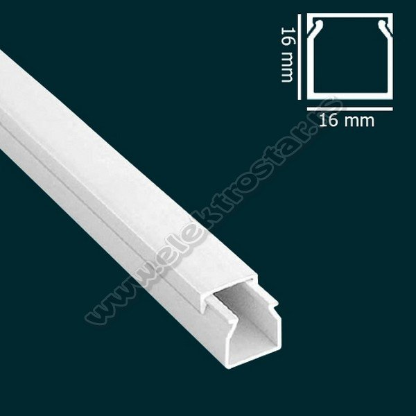 PVC KANAL 16X16 X2000 (125)