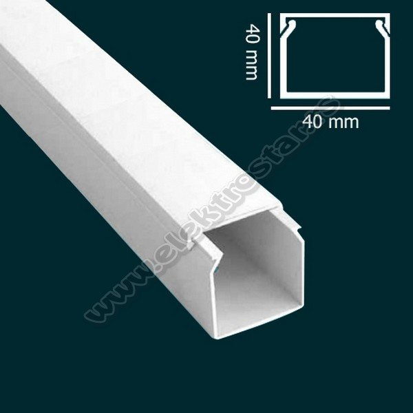 PVC KANAL 40X40 X2000 (25)