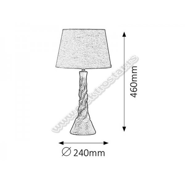 4376 STONA LAMPA HATTIE E14 40W