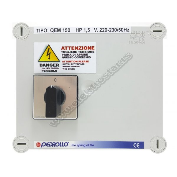 CONTROL BOX QEM150 1,1KW 40mF PEDROLLO
